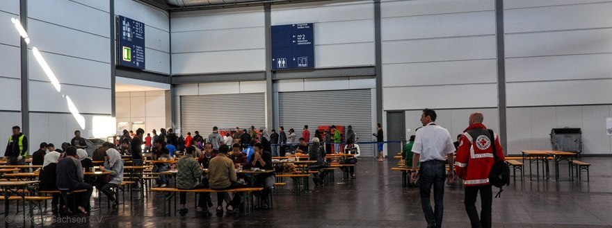 Eating area at the Messe Leipzig facility
